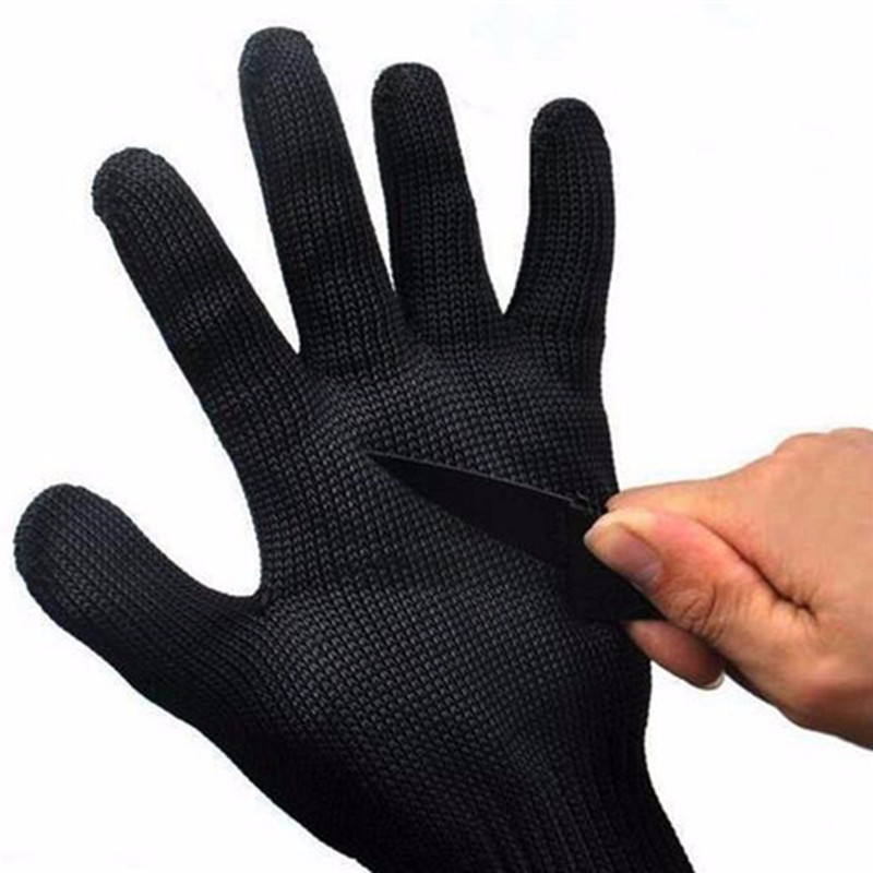 15 Stainless Wire Safety Cut Resistant Work Safety Protective Gear Gloves Black White For Gardening Work