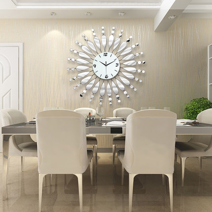 Creative Mirror Shine Living Room Bedroom Watch Clock Large Decorative Wall  Clocks Saat Horloge Murale Design