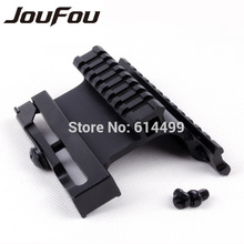 JouFou Tactical Gun Accessories Weaver Picatinny Gen 5 AK Double Rail Side Mount Quick Detachable / Lock Lever for Riflescope