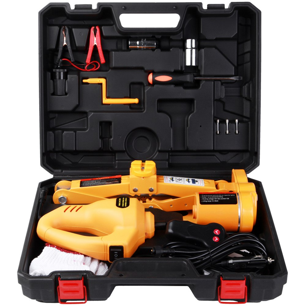12v Car Electric Jack Repair Tools Auto Lift Jack Hydraulic Floor Electric Wrench Jack Tire Replacing Lifting Tools