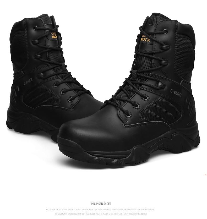D'hiver Désert De Spécial Force Cheville Chaussures Dudeli En noir Cuir Armée Militaire Au Hommes Sécurité Noir Bottes Travail Tactique Combat Beige q8OAIvw