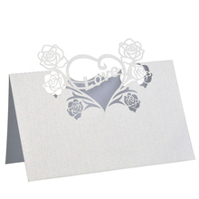 50pcs Love Heart Laser Wedding Party Place Cards