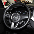 Case for KIA Carens 2013 Car steering wheel cover Car styling cover Genuine leather DIY Accessories interior