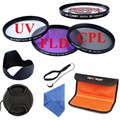 52mm UV CPL FLD Close Up+4 Lens Filter Kit Lens Hood&Cap+Bag For Canon Rebel/EOS 700D 1100D T3i T2i T4i Nikon D3000 D5000 D7000