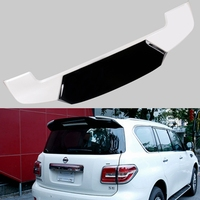 ABS Plastic White Black Color Rear Trunk Boot Wing Spoiler Car Accessories 1Pcs For Nissan PATROL Y62 2011 2018