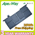 "Apexway 35WH 7.3 v bateria do portátil para apple Macbook Air 11 ""A1495 A1465 A1406 MC968 MC969 MC505 MC506 + chaves de fenda"