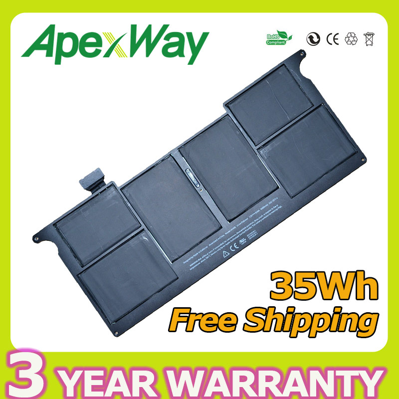 Apexway 35WH 7.3v laptop battery for apple Macbook Air 11 A1406 A1465 A1495 MC968 MC969  MC505 MC506+screwdrivers batteryApexway 35WH 7.3v laptop battery for apple Macbook Air 11 A1406 A1465 A1495 MC968 MC969  MC505 MC506+screwdrivers battery