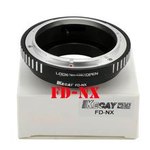 Kecay High-Precision FD-NX lens adapter for Canon FD lens and For Samsung NX camera body NX Camera Adapter-Black+Sliver