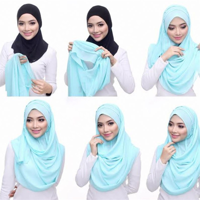85*180cm Muslim Instand Jersey Hijab Scarf Women Islamic Double Loop Headscarf Hijabs Femme Musulman Plain Shawls And Wraps