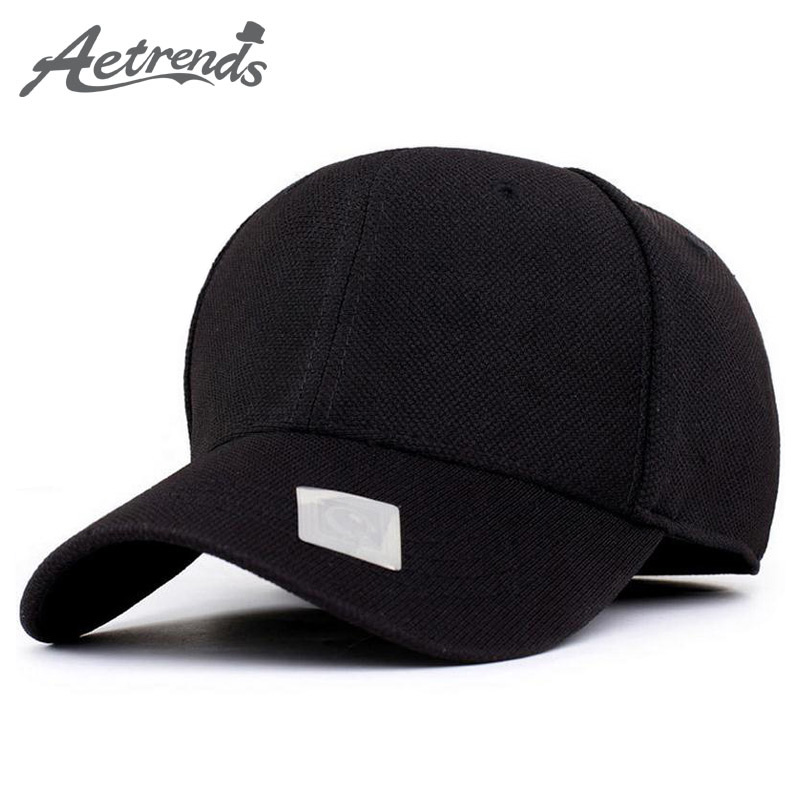 AETRENDS  Solid Baseball Cap Mens Hats and Caps Black Trucker Hat Outdoor  Polo Golf Tennis Sport Gorras Para Hombre Z-1477 77f818a1179