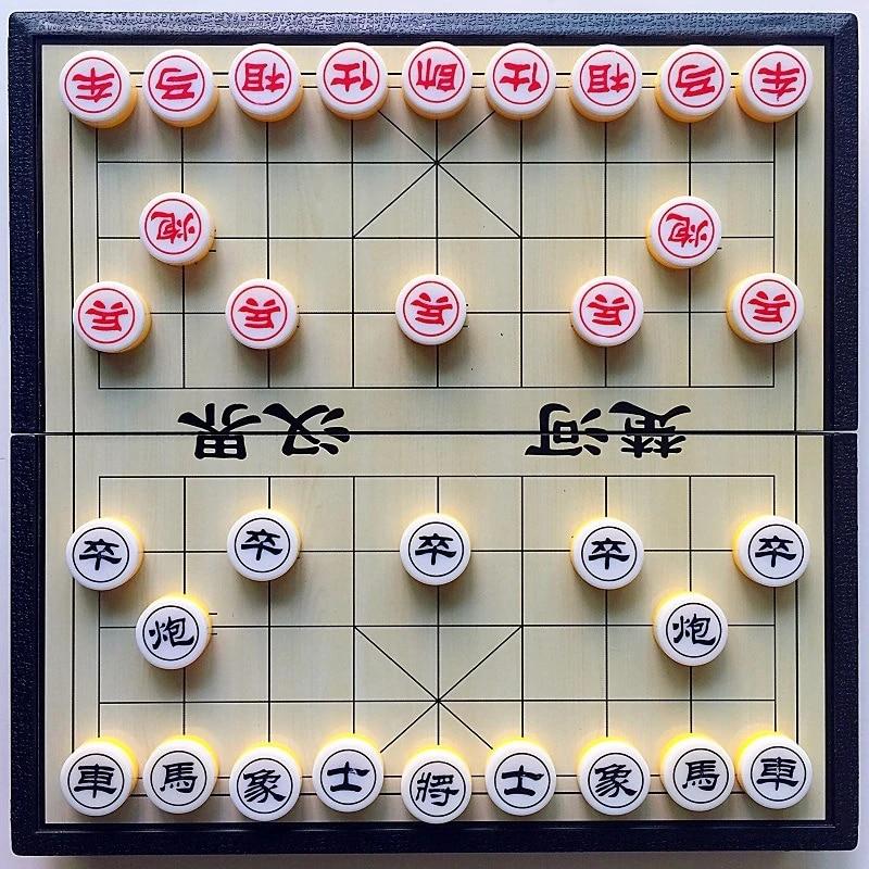 Xiangqi Magnetik Catur Cina Portabel Lipat Papan Catur Anak Anak Mengajar Orang Dewasa Kompetisi Permainan Perjalanan Catur Set Aliexpress