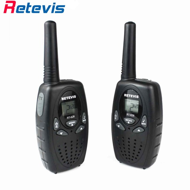 2X 3Colors Mini Two Way Radio For Kids Retevis RT628 0.5W UHF PMR446 Radio LCD Display Portable Amateur Radio Walkie-Talkie Mini