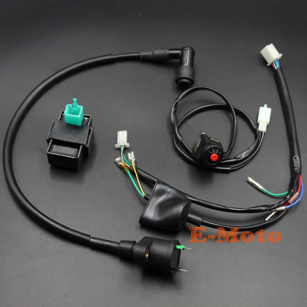 hight resolution of wiring loom harness kill switch ignition coil cdi for honda crf50 klx dirt pit bike new