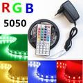 5M SMD RGB 5050 tape light Waterproof 150 LED Strip Light 44 Key Remote controller / dc 12V Power adapter EU/US led strip kit