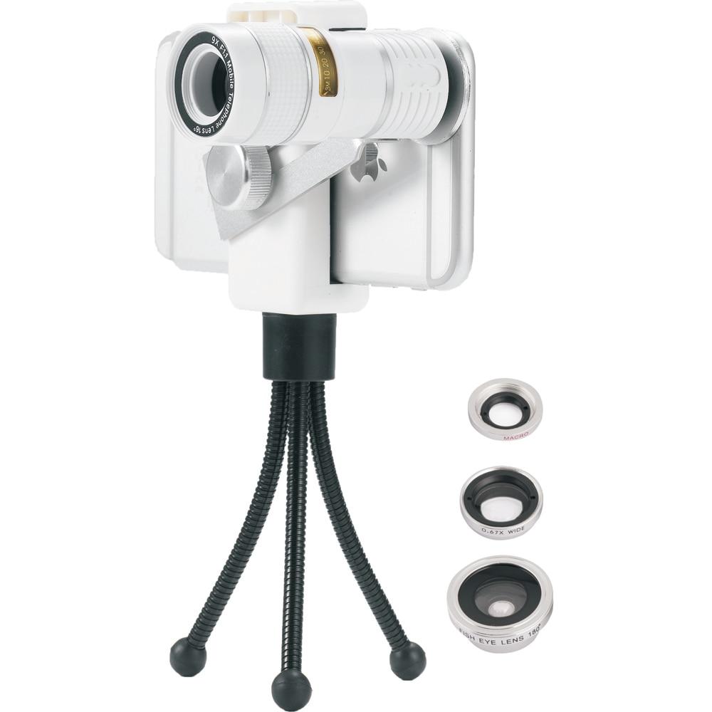 Hot 4in1 Universal Φακός κινητού τηλεφώνου 9X - Ανταλλακτικά και αξεσουάρ κινητών τηλεφώνων