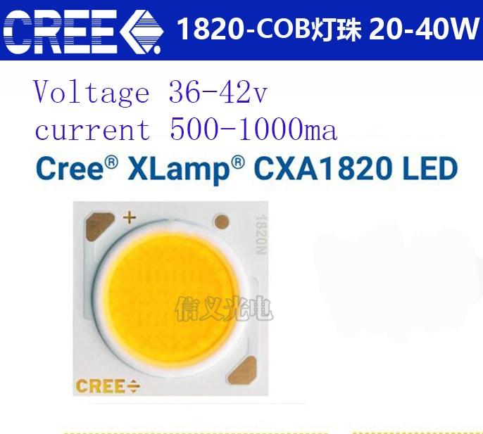 CREE XLamp CXA1820 COB 20W25W30W35w40w vedl 3000-4500LM High-CRI 80 - LED Osvětlení