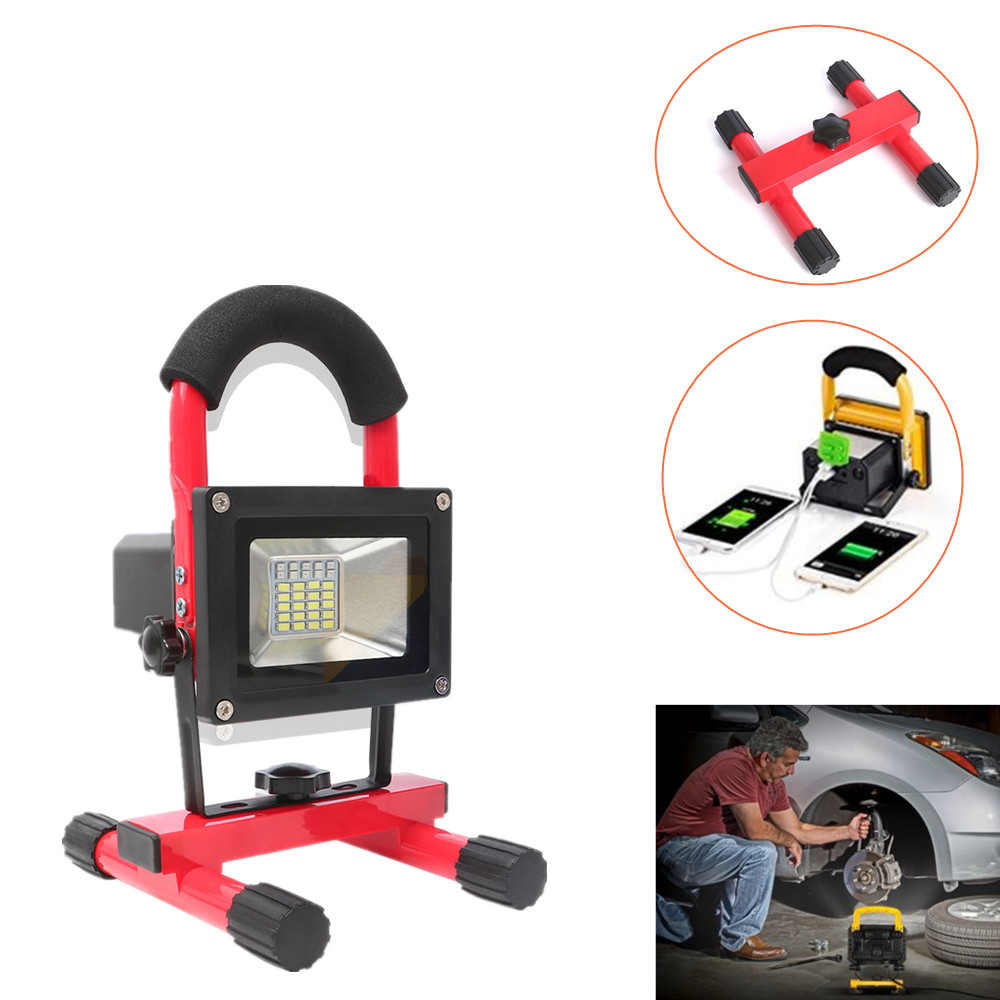 Stalwart Large 60 Led Rechargeable Work Light: HNYTI 60W Hand Held 30PCS LED Work Lights Outdoor Camping