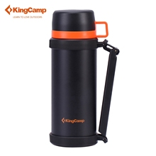 KingCamp 1500 ML Al Aire Libre Camping Deportes Viajes Botella Olla de Aislamiento de Doble Tapa Deporte Ciclismo Riding Botella de Agua Caliente