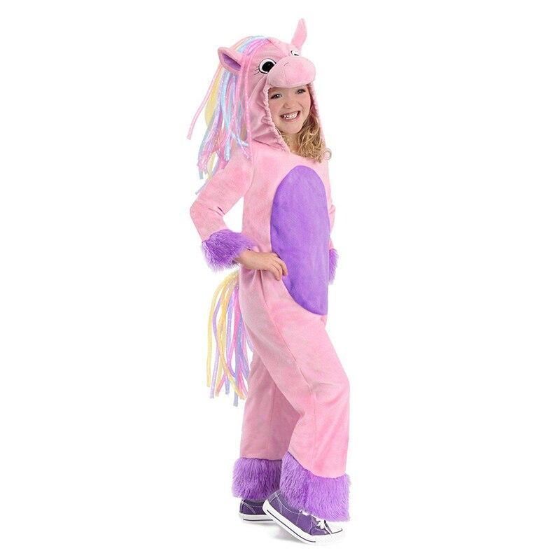 Costume de poney arc-en-ciel magique coloré pour enfants pour Halloween ou traiter ou fête d'anniversaire