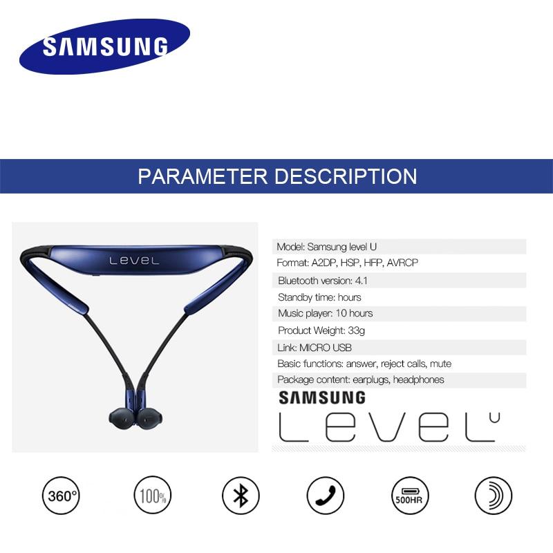 SAMSUNG Level U Écouteurs Intra-auriculaires Sans Fil Bluetooth casques Collier Antibruit Soutien A2DP, HSP, HFP pour Galaxie 8 S8plus - 5