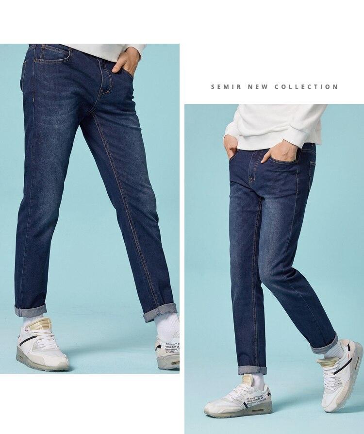 HTB1duTKae6sK1RjSsrbq6xbDXXao - SEMIR jeans for mens slim fit pants classic jeans male denim jeans