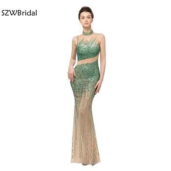 214168baf Nueva llegada Cap manga vestidos de noche 2019 árabe vestidos de noche Sexy  sirena elegante vestido traje de fiesta vestidos largos