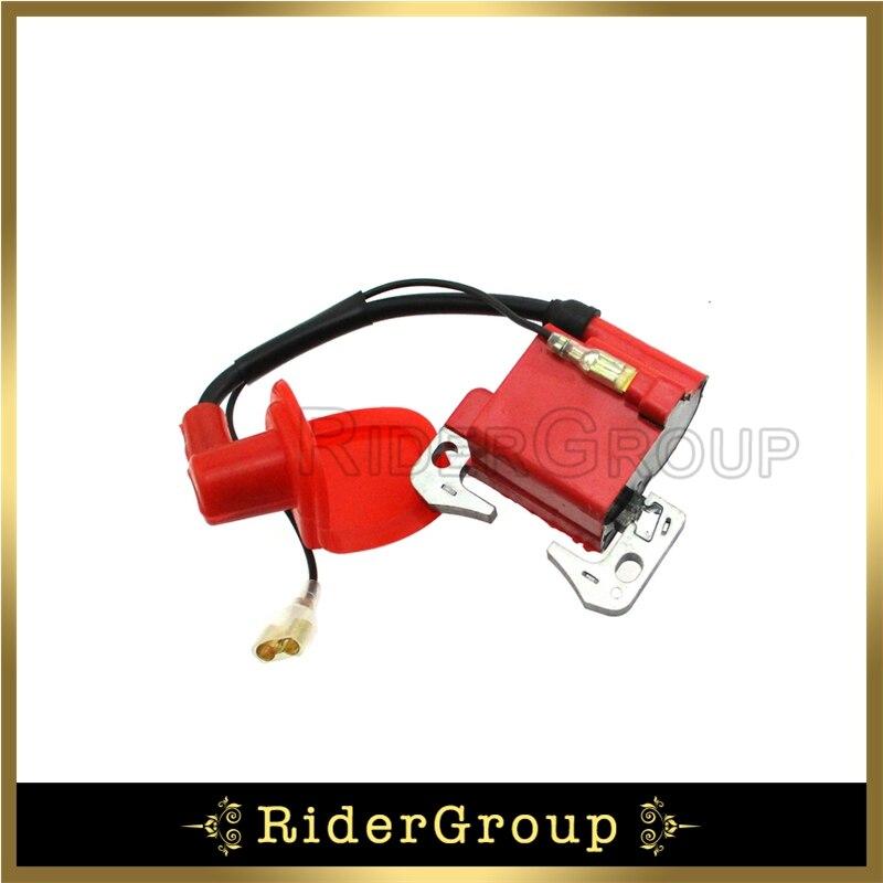 TC-Motor Red Racing Ignition Coil For 2 Stroke 47cc 49cc Engine Mini Moto Quad ATV Pocket Dirt Bike Minimoto