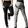 Men Pants Male Hip Hop Harem Pants Silm Casual calca moletom erkek giyim cotton baggy Casual Pants low crotch pants