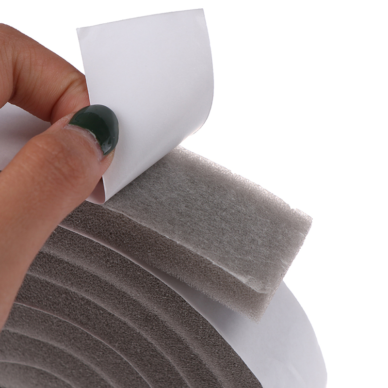 2M Door Window Sealing Strips Sound-Proof Foam Sticky Tape Noise Insulation Excluder Tape Roll Sealing Strip