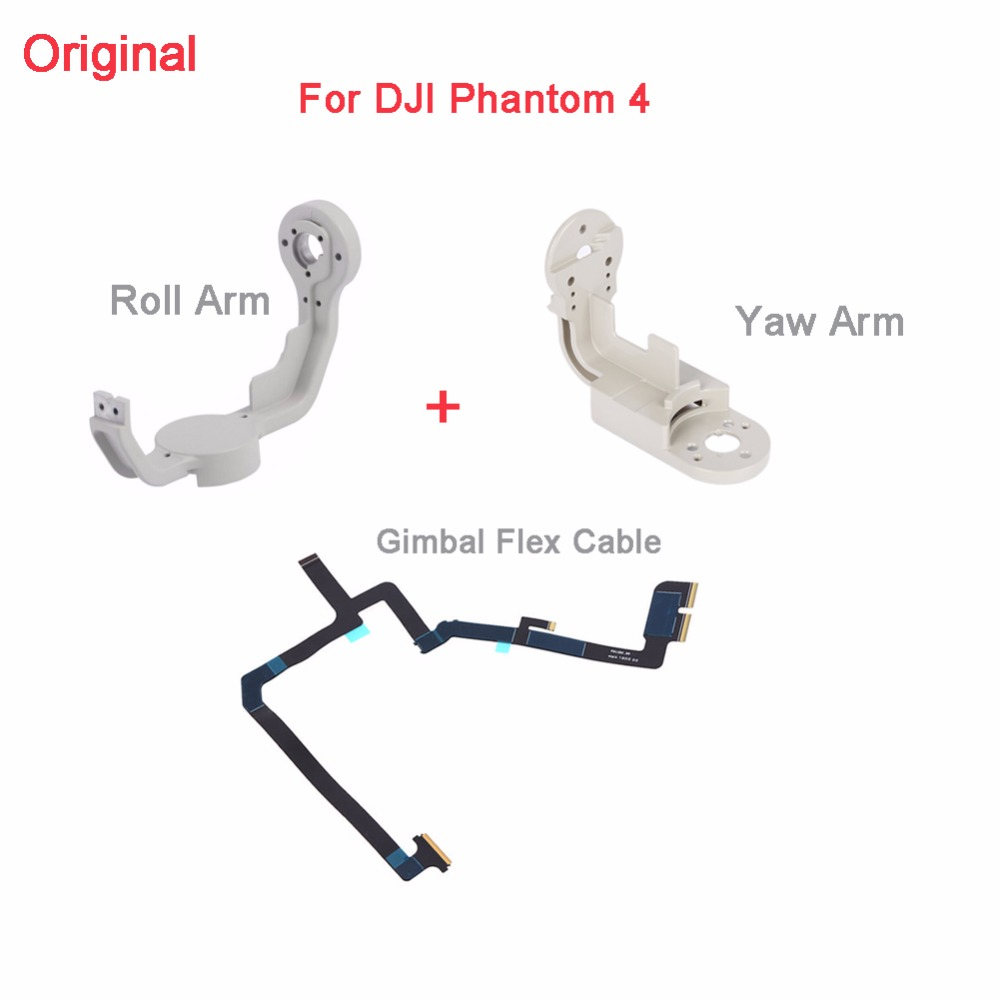 Original For DJI Phantom 4 Gimbal Flexible Gimbal Flat Ribbon Flex Cable Layer+Yaw Arm+ Roll Arm Bracket Kit Replacement DR1529A