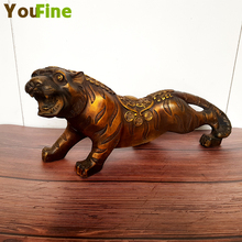 Real bronze sculpture statue tiger brass ornaments modern home decoration painting craft wholesale
