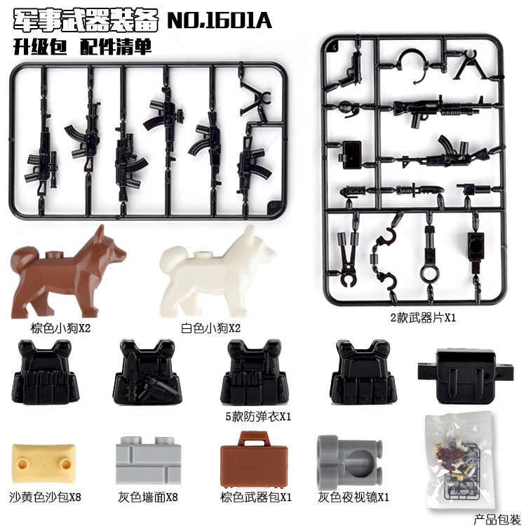 Создатель военный спецназ оружие ОРУЖИЕ ПАКЕТ городская полиция солдат строитель серии WW2 армейские аксессуары MOC строительные блоки игрушки создатели