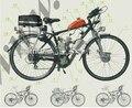 2 тактный 48CC комплект газового велосипеда двигателя/бензиновый двигатель для велосипеда