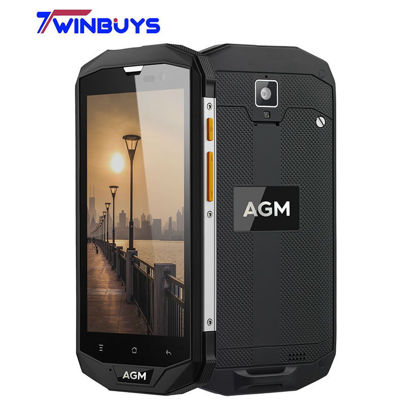 Original AGM A8 5.0 Inch for Qualcomm MSM8916 Quad Core IP68 Waterproof Android 5.1 4G LTE Mobile Phone 3GB 32GB 13.0MP