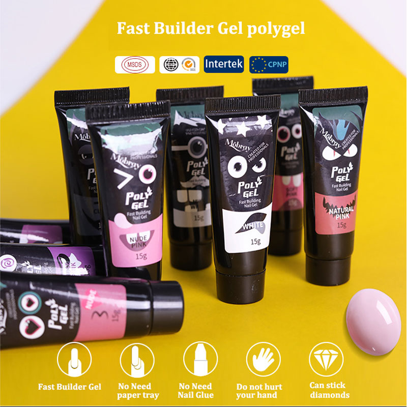 15ml 9color Poly Gel Soak off UV Acryl Gel Quick Building Finger Extension Nail Gel Camouflage UV LED Hard Builder Gel Polygel in Nail Gel from Beauty Health