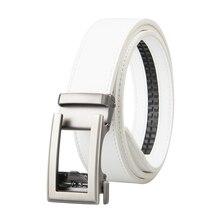 Famous Brand Belt Men Top Quality Genuine Luxury Leather Belts for Men Strap Male Metal White Leather Automatic Buckle Belts Men цена в Москве и Питере