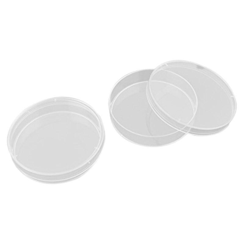 70 Mm*15 Mm Polystyrene Transparent Culture Lot 10 Petri Dish Sterilization