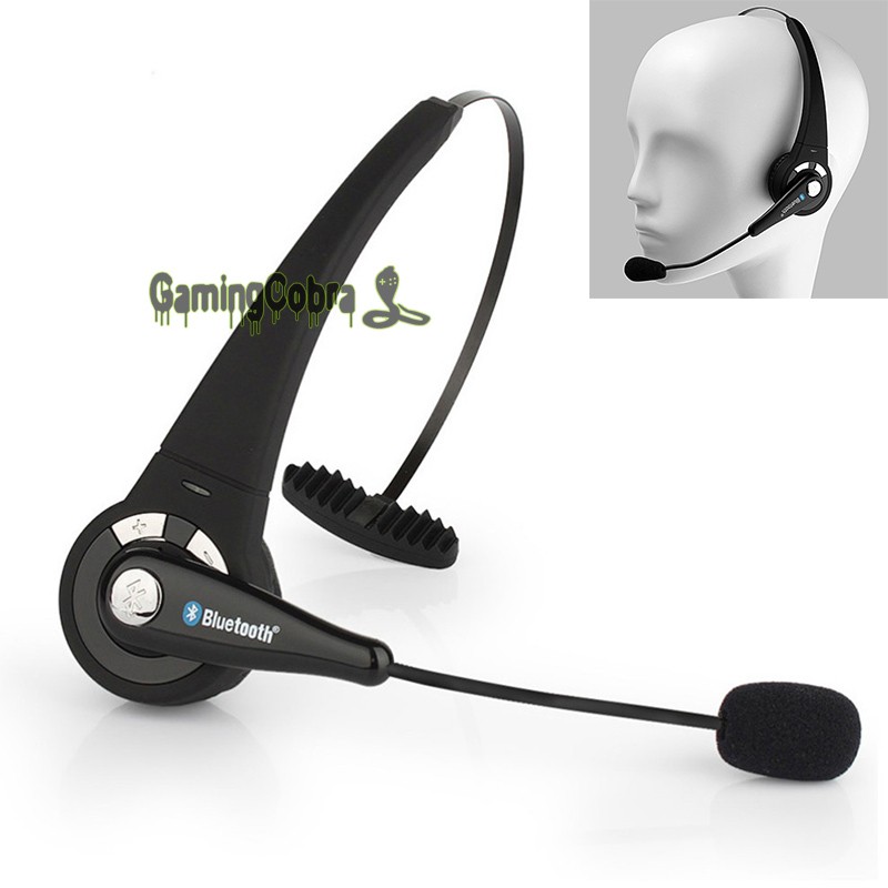 Wireless Bluetooth Noise Canceling Headset Headphone w/ Mic For Truck Driver PS3