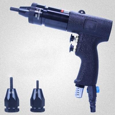 802 Pneumatic Riveters Pneumatic Riveter Pull Setter Air Rivets Nut Gun Tool Self Locking  for Aluminum Rivet Nuts M5/M6 high quality a280 pneumatic riveter gun air hydraulic rivets tool 4 0 6 4mm