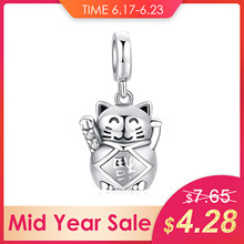 JewelryPalace 925 Sterling Silver Charms Love Lucky Cat Beads Charms fit Bracelets Trendy Women Girls Ladies Fashion DIY Jewelry(China)