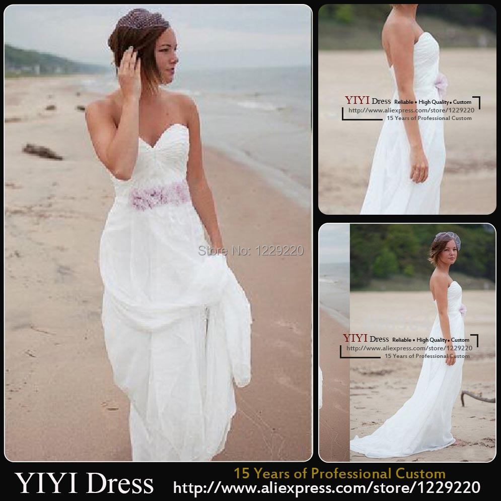 Online get cheap summer casual wedding dresses aliexpress for Casual flower girl dresses for beach wedding