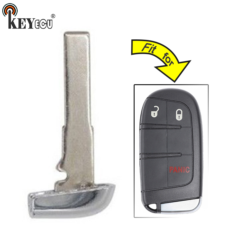 KEYECU for <font><b>Fiat</b></font> 500, for Jeep Rengade Replacement Smart Emergency Car <font><b>Key</b></font> <font><b>Remote</b></font> Insert Blade Blank Case Fob FCC: M3N-40821302 image