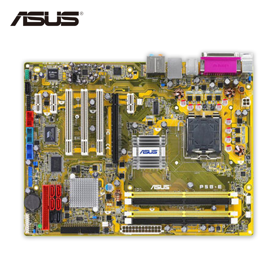 Asus P5B-E Desktop Motherboard P965 Socket LGA 775 DDR2 ATX Second-hand High Quality запонка arcadio rossi запонки со смолой 2 b 1026 20 e