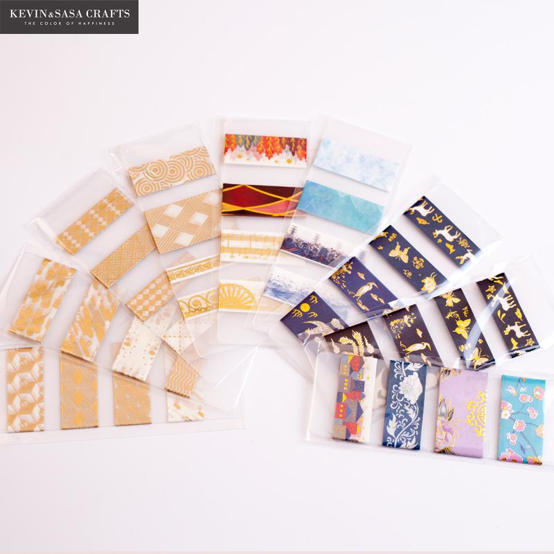New Gold Foil Washi Tape Set Quality Stationery Diy Scrapbooking Photo Album School Tools Kawaii Scrapbook Paper Stickers Gift