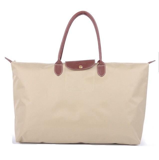 79221b1f7 wholesale cheap travel bags nylon folding tote bag large fashion waterproof  dumplings leather casual handbag shoulder bag khaki