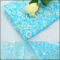 150 100cm NEW Fashion Swiss Cotton Silk Voile Fabric African Floral Silk Lace Fabrics Wedding