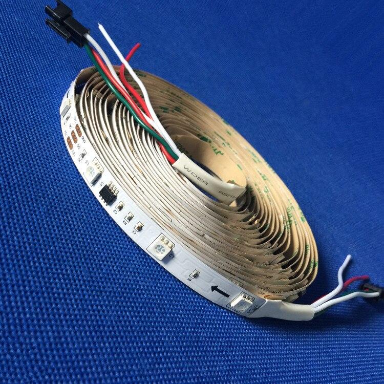 5M Gratis frakt 5050 RGB SMD WS2811 Individuelt adresserbar 30led / m WS2811 Pixel LED Strip DC12V Ikke vanntett