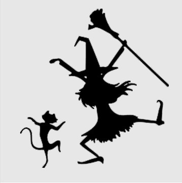 witch cat halloween hallowmas vinyl wall stickers shop window glass halloween wall decor wall decals home decoration