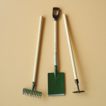 Mini Dollhouse Accessories Simulation Gardening Tools 3pcs Mini Life Scene Model