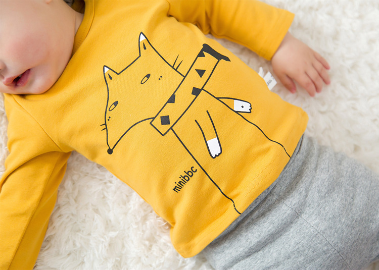 2017 Toddler Kids Baby Boys Girls Infant spring Autumn Long Sleeve cartoon Fox T-Shirt Tops Clothing Cotton cloud rain T-Shirts (31)